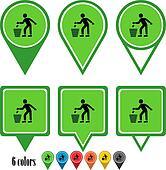 Waste basket  flat navigation