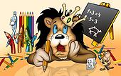 Lion in School