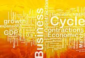 Business cycle background concept