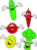 Vegetable cartoon character