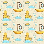 Bubble bath seamless pattern