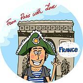 Arc De Triomphe Clip Art - Royalty Free - GoGraph