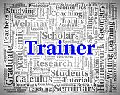 Trainer Word Shows Give Lessons And Coaching