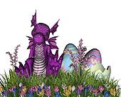 Easter Surprise Baby Dragon