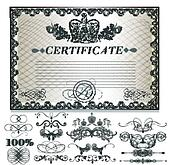 Gift certificate set  with decorati