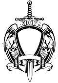 skulls sword frame
