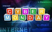 3d buzzword text 'cyber monday'