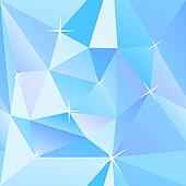 Ice cubes blue abstract geometry vector background