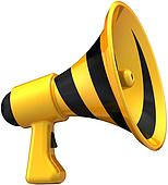 Megaphone news symbol