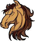 Mustang Stallion Graphic Mascot