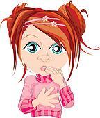 Startled Redhead Girl