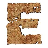 Rusted letters.