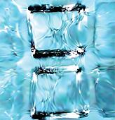 Blue ice cubes background. Vector