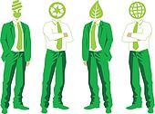 green business, vector