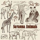 Collection of vector animals  African Savanna