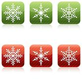 Snowflake Christmas Icons