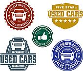 Used Car Sales Stamps