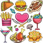 Set of ready-to-eat food icons  2
