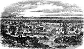 City of Kano, Nigeria vintage engraving