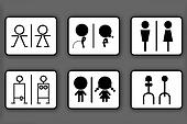 Toilet symbols for men and women
