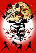 skull and thai kick