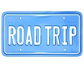 Road Trip Words on Vanity License Plate Holiday Travel