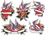 swallow tattoo set