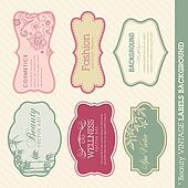 Beauty vintage labels background