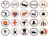 Set of 20 halloween icons