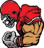 Football Player With Helmet Cartoon