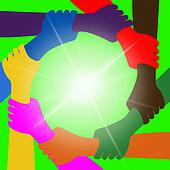 Holding Hands Means Globalization Unity And Globally