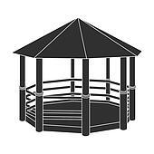 Outdoor Gazebo Clip Art - Royalty Free - GoGraph