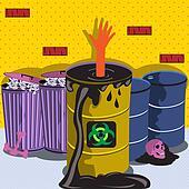 Drawn In Biohazard Barrel