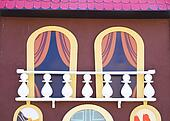 theatrical cartoonish like balcony