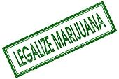 legalize marijuana green square stamp isolated on white background