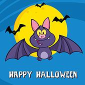 Cute Vampire Bat Greeting Card
