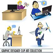 Graphic Designer Clip Art Collectio