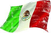 Mexican flag grunge