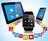 Smartwatch smartphones tablets and apps