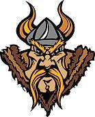 Viking Mascot Vector Cartoon with H