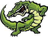 Gator or Alligator Mascot Body Vect