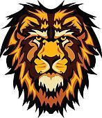 Lion Head Graphic Mascot Vector Ima