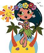 Hawaiian Aloha girl