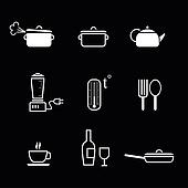 Kitchen icons - for cafes and restaurants