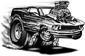 1969 Cartoon Muscle car
