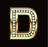D bling letter