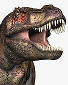 Tyrannosaurus Rex Closeup