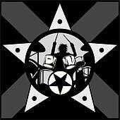 drummer rock star vector
