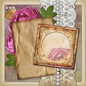 Vintage paper frame  on vintage background