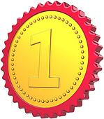 First place badge medal award